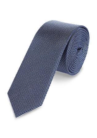 Zijden stropdas met geweven motief