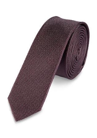 Zijden stropdas met structuur