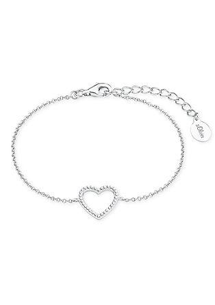 Zilveren armband hart met zirkonen
