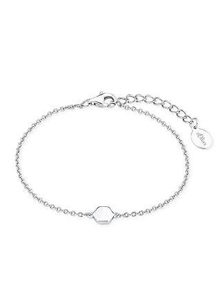 Zilveren armband hexagon