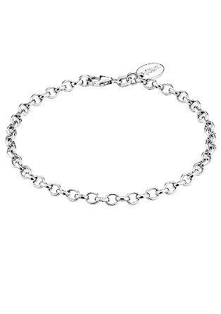 Zilveren armband ter bevestiging van je bedels.