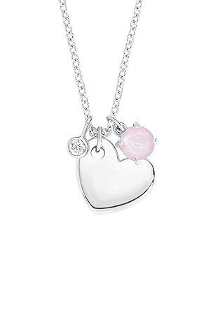 Zilveren ketting met een hartvormige hanger