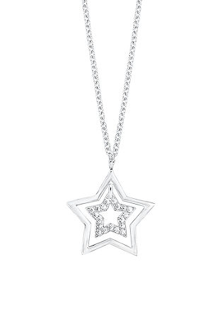 Zilveren ketting met een stervormige hanger