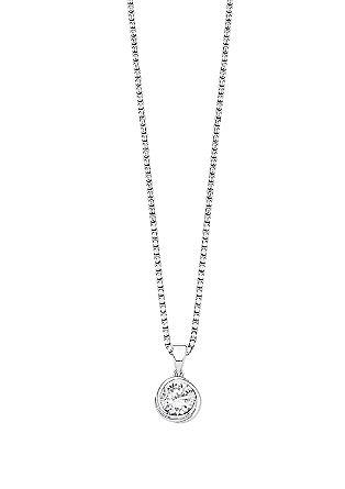 Zilveren ketting met hanger met zirkonia