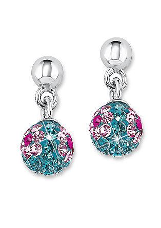 Zilveren oorbellen met Swarovski- kristallen