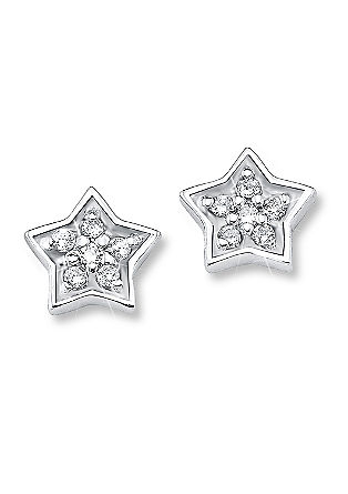 Zilveren oorstekers 'ster'