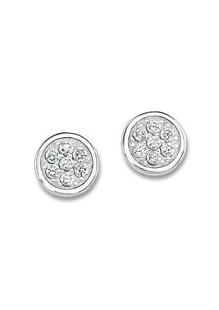 Zilveren oorstekers met zirkonia's