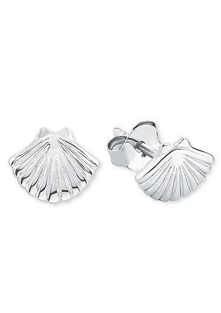 Zilveren schelp-oorstekers