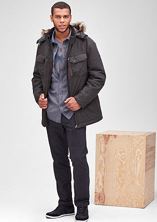Zimska jakna s kontrasti