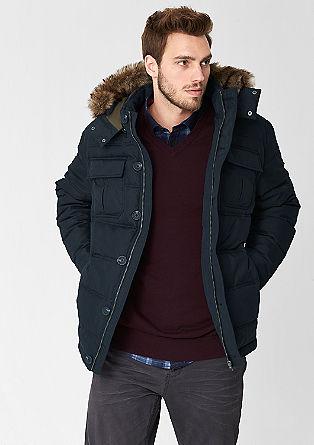 Zimska jakna z detajlom iz umetnega krzna