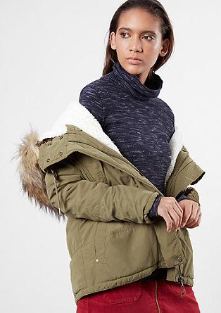 Zimska jakna z umetnim krznom