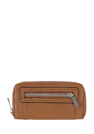 Zip purse with a distinctive grain from s.Oliver
