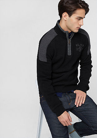 Zip-up jumper in a wool blend from s.Oliver