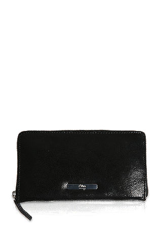 Zip-up leather purse from s.Oliver