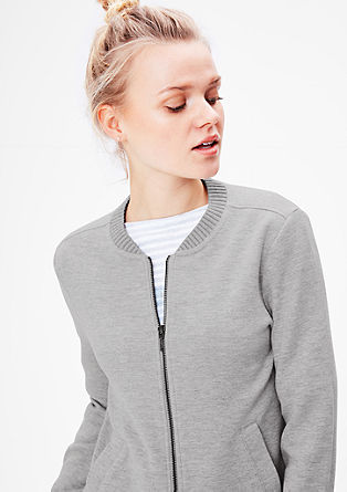 Zip-up sweatshirt in a bomber jacket style from s.Oliver