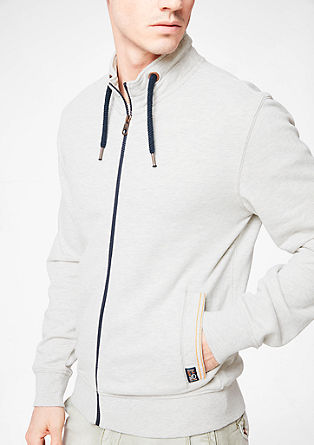 Zip-up sweatshirt with a stand-up collar from s.Oliver