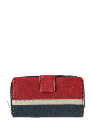 Zip Wallet im Colorblocking-Design