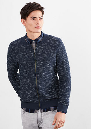 Zipperjacke in Bouclé-Optik