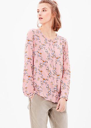 Zračna bluza z retro vzorcem