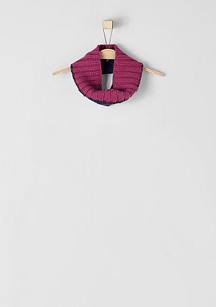 Zweifarbiger Loop-Schal