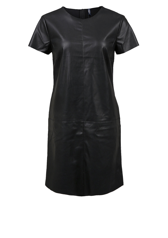 aansluitende jurk van mat imitatieleer bestellen s oliver online shop. Black Bedroom Furniture Sets. Home Design Ideas