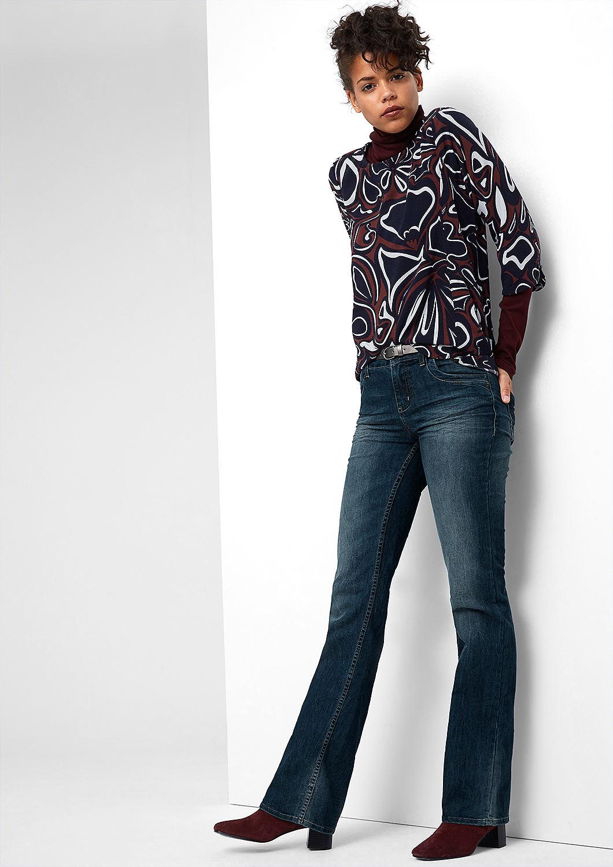 buy bootcut jeans with studded belt s oliver shop. Black Bedroom Furniture Sets. Home Design Ideas