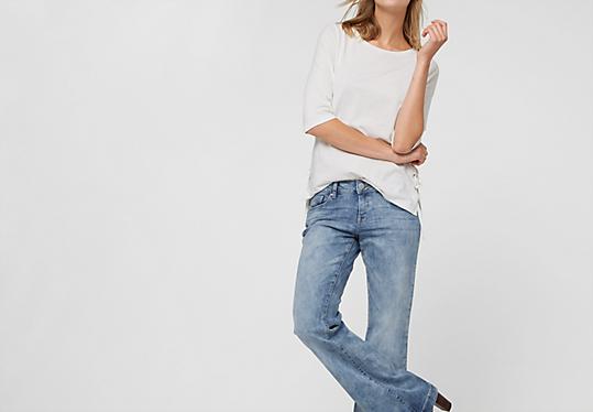 oliver denim catie bell bottom flared jeans up to 59 99 eur now 29. Black Bedroom Furniture Sets. Home Design Ideas