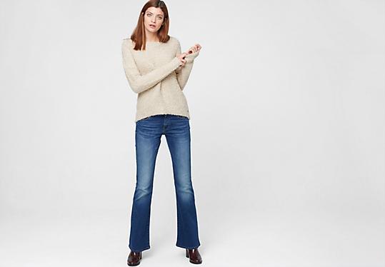 sale bootcut jeans f r damen bequem im s oliver online shop kaufen. Black Bedroom Furniture Sets. Home Design Ideas