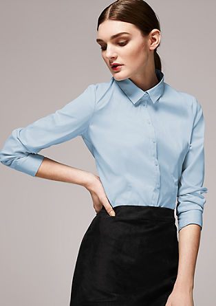 Stretch blouse with tone-in-tone buttons from s.Oliver