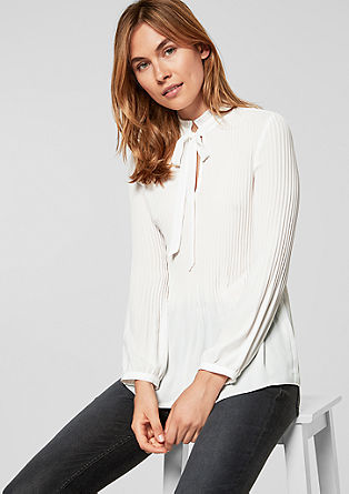 Pussycat bow blouse with pleats from s.Oliver