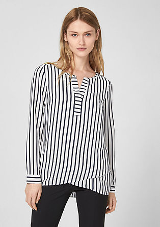 Oversized blouse with stripes from s.Oliver