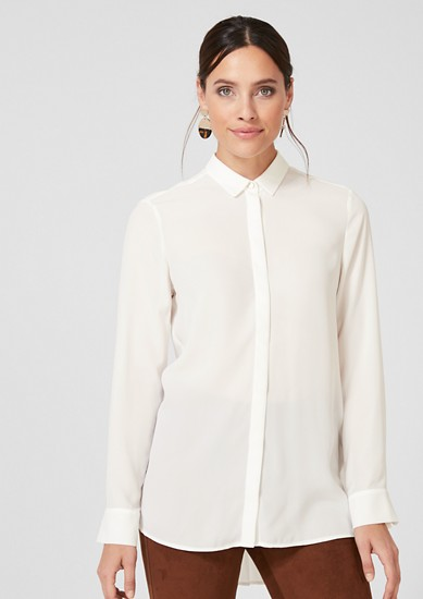 Crêpe blouse with plissé pleats at the back from s.Oliver