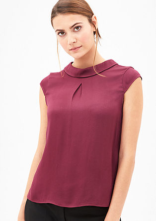 Blouse top with a collar from s.Oliver