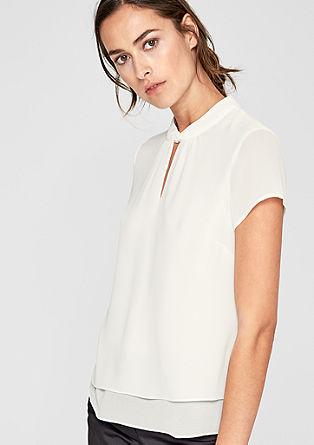 Transparante blouse met laagjeslook