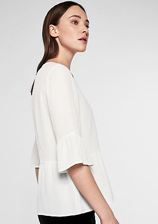 Frilled blouse with a peplum from s.Oliver