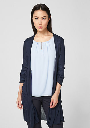 Long cardigan with a wavy hem from s.Oliver