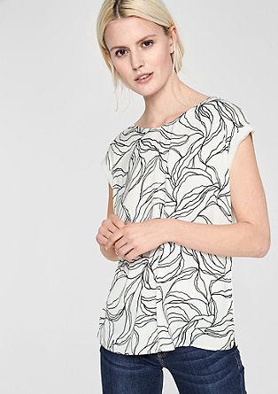 T-shirt met blouseachtige details