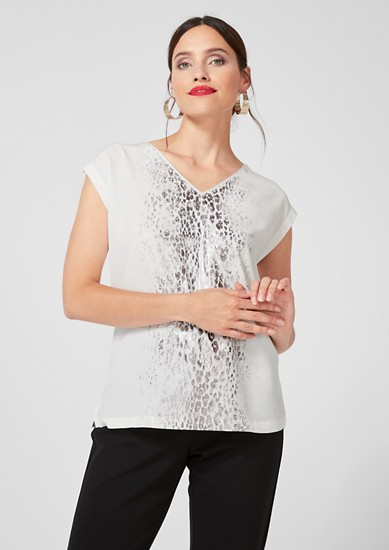 Blouse top with a metallic effect from s.Oliver