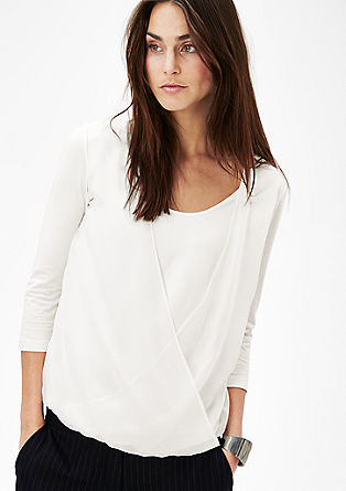 Shirt mit Chiffon-Layer