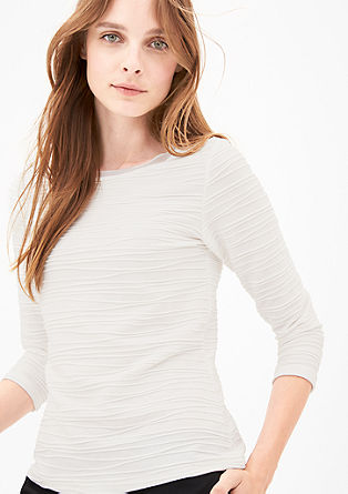 Long sleeve top with an all-over texture from s.Oliver