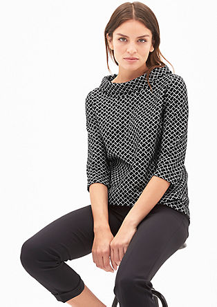 Jacquard top with a retro pattern from s.Oliver