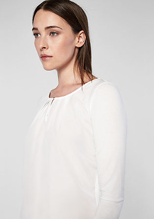 Blouse top with an elegant neckline from s.Oliver