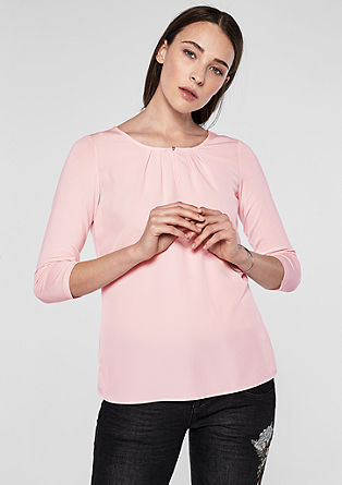 Long sleeve top with pleats from s.Oliver
