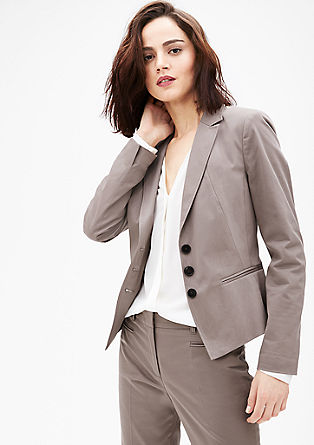 Satin business blazer from s.Oliver