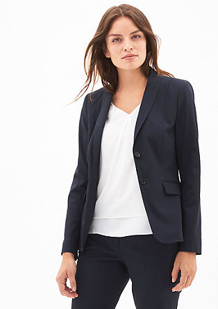 Blazer with a patterned texture from s.Oliver