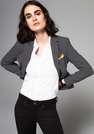Stretch blazer with a finely woven texture from s.Oliver