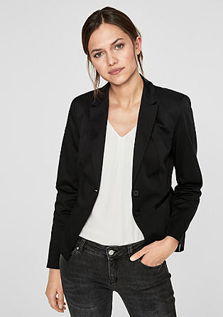 Cotton satin blazer from s.Oliver