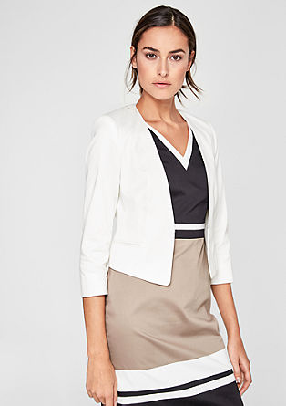 Korte blazer in satijnen look