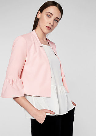 Short blazer with flounce sleeves from s.Oliver