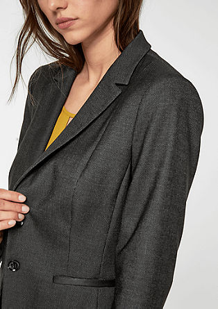 Fitted fil-à-fil blazer from s.Oliver